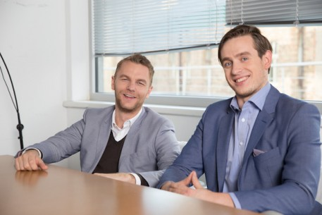 Mintos CEO and Co-Founder Martins Sulte (left) with CFO and Co-Founder Martins Valters (right).
