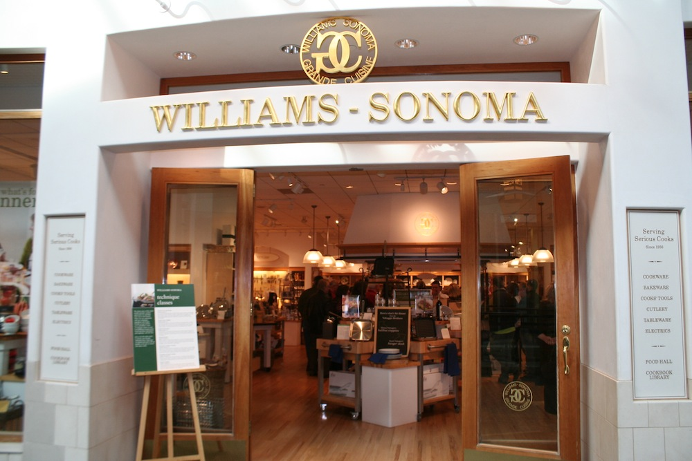Williams-Sonoma, Inc., is an American publicly traded consumer retail company that sells kitchenwares and home furnishings. It is headquartered in San Francisco, California, United States. It is one of the largest e-commerce retailers in the U.S., and one of the biggest multi-channel specialty retailers in the world. Founded.