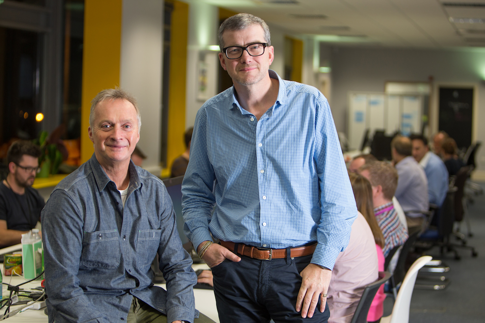Atom Bank's Founder and Chairman Anthony Thomson (Left) and CEO Mark Mullen (Right)