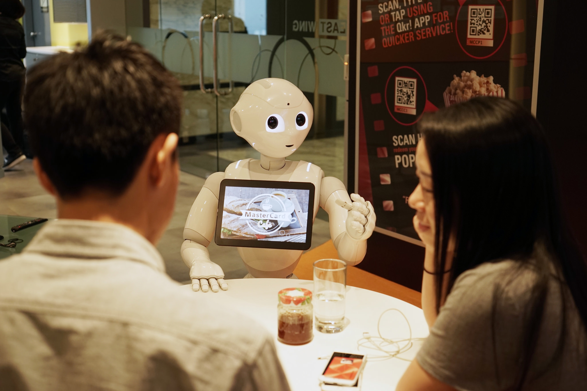 MasterCard Labs Pizza Hut Pepper Robot
