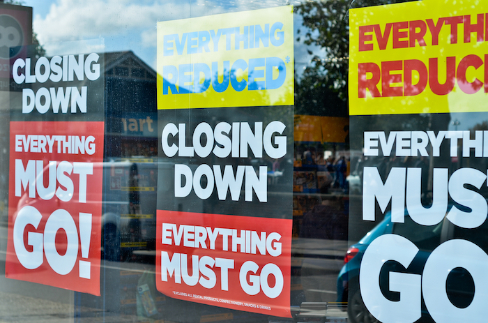 Retailers are going bankrupt.