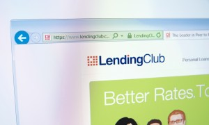 Lending Club computer screen