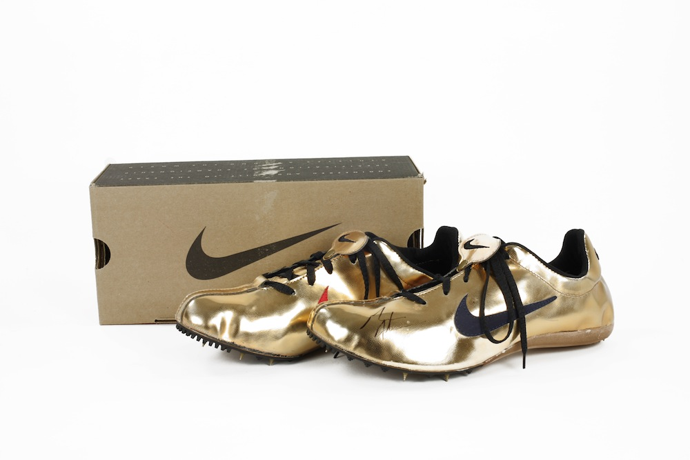 Black And Gold Michael Johnson Track Shoes Nike