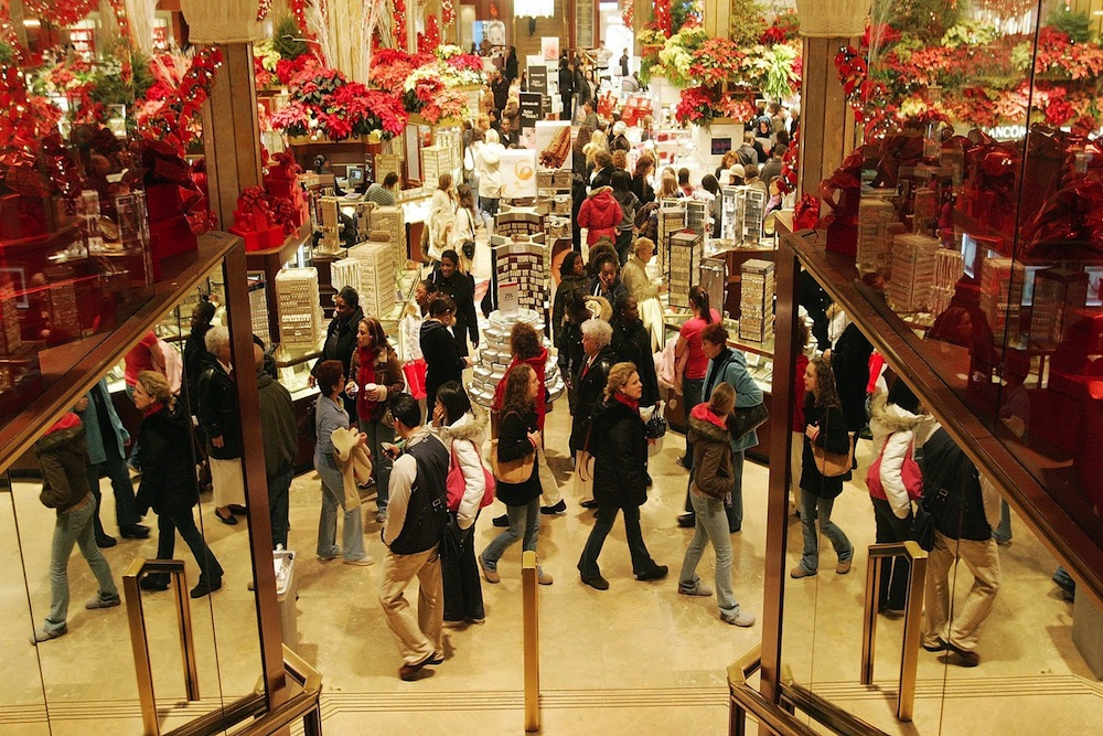 United States retail stocks jump on holiday spending record