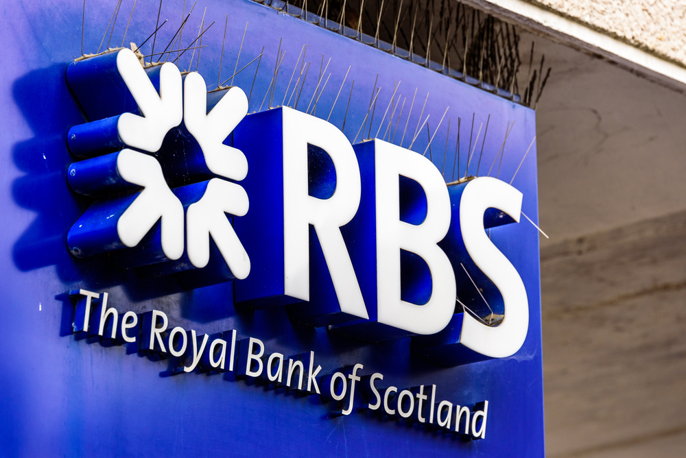RBS reports third successive quarter, shares rise