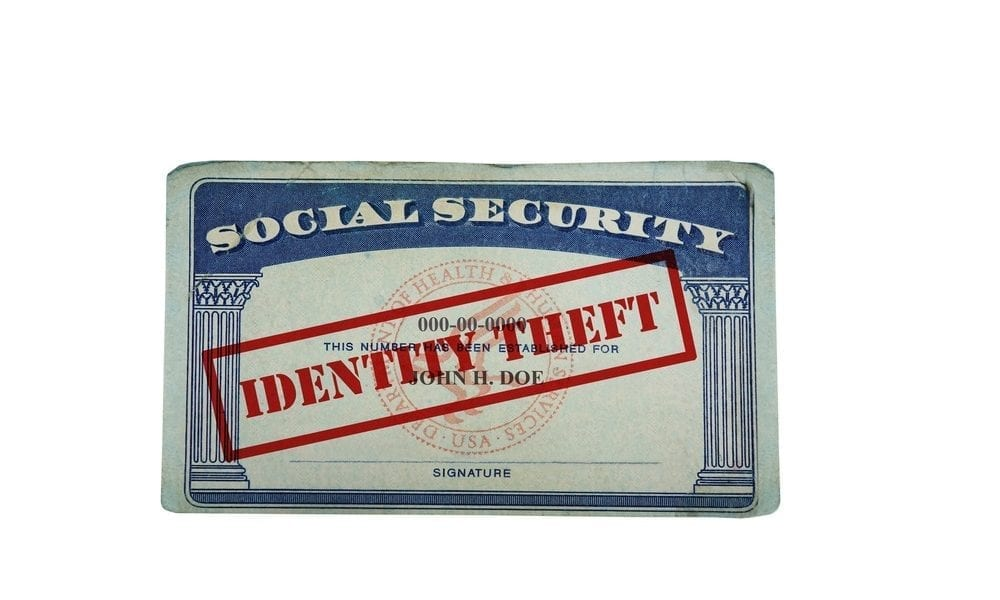 Social Security card identity theft