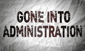 Gone into administration