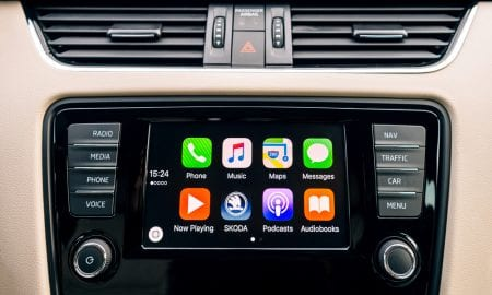 car dashboard Apple apps