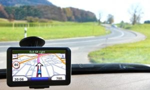 GPS car dashboard