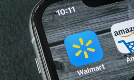 Walmart Amazon apps smartphone