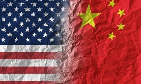 U.S. China flags
