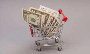 cash shopping cart