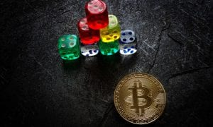 bitcoin with dice pyramid