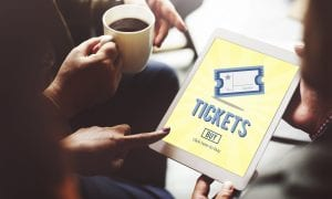 ticket purchase on tablet