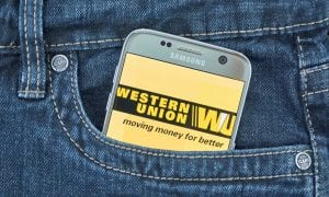 Western Union on smartphone