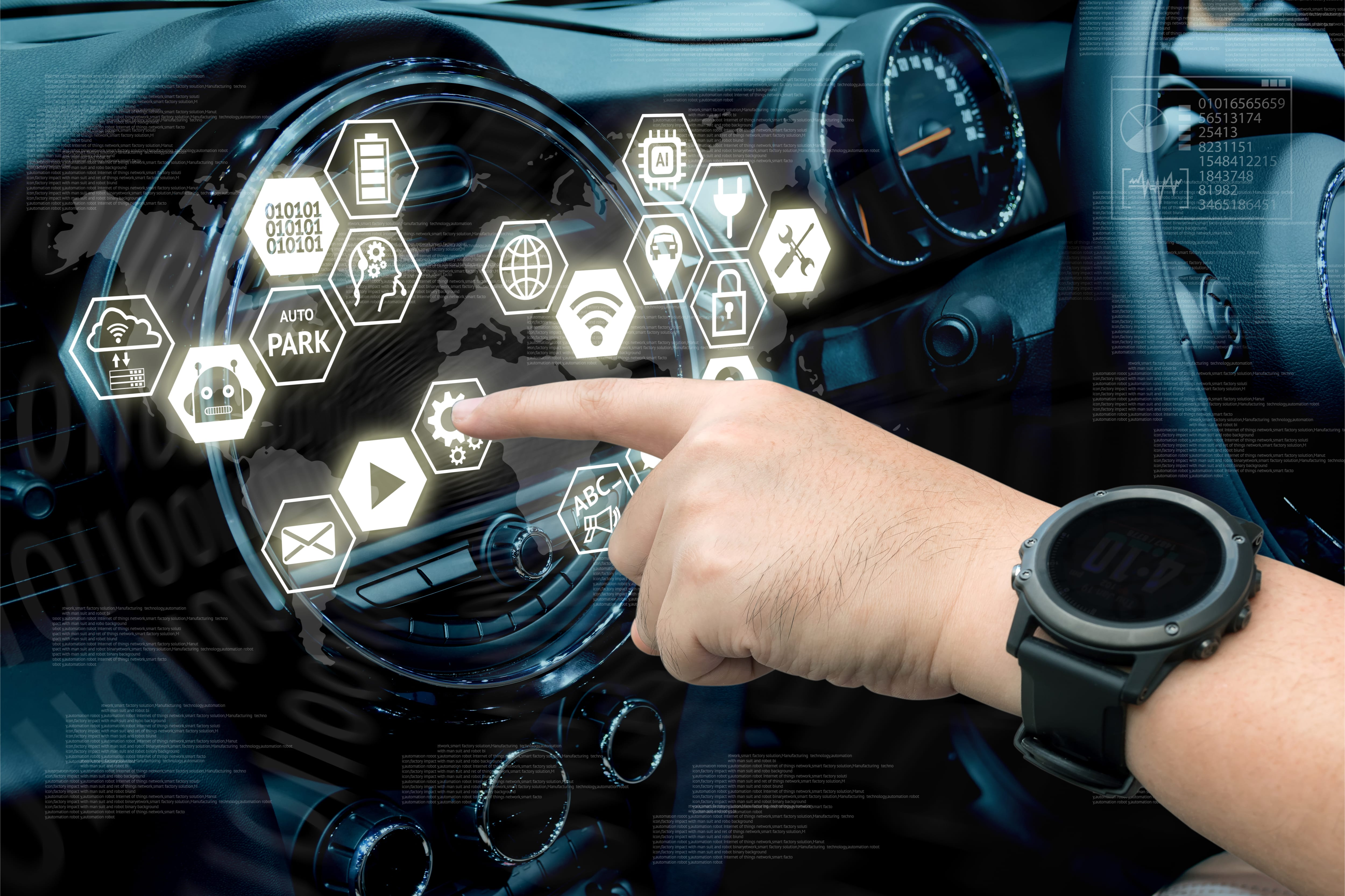 connected vehicle dashboard