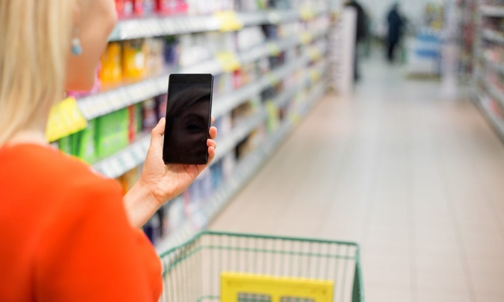 grocery store, phone app