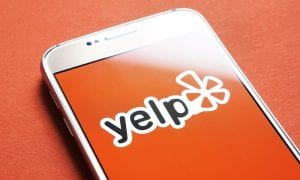 Yelp app on smartphone
