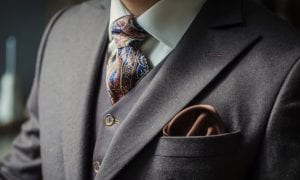 luxury brand suit and tie