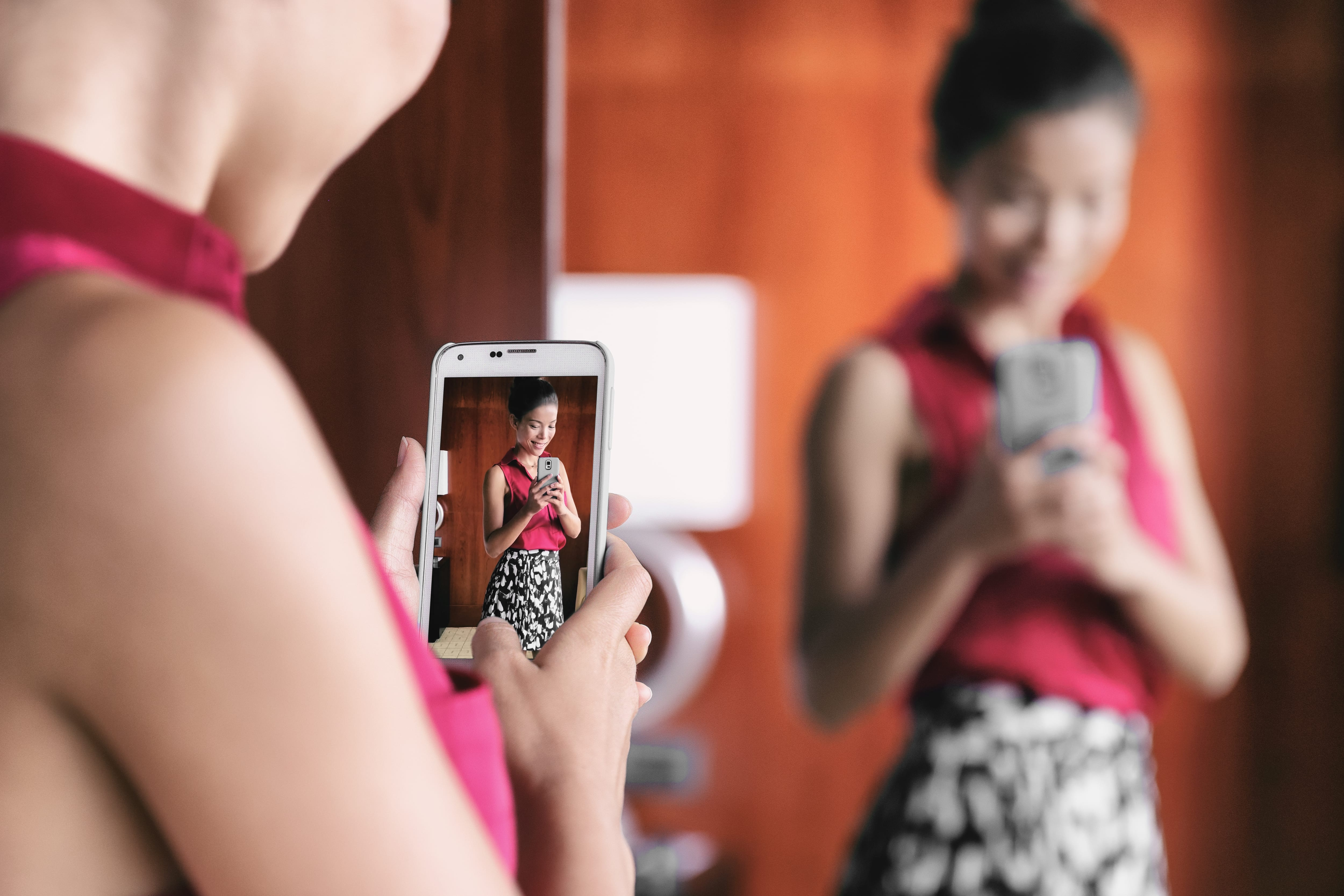 fashion smartphone dressing room