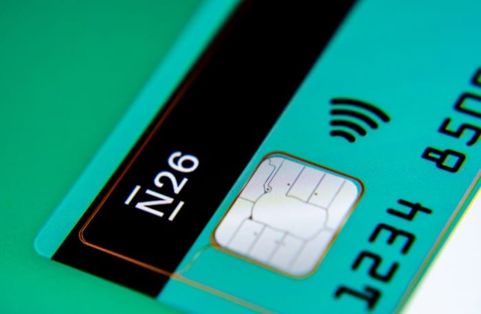 N26 payment card