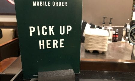mobile order pick up here sign
