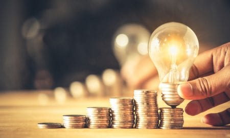 coins, lightbulb, ideas, money