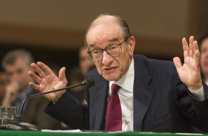 former U.S. Federal Reserve Chairman Alan Greenspan, central banks, sovereign credit backing, cryptocurrency, bitcoin, news digital currency, bitcoin,