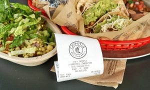 Chipotle Mexican Grill meal