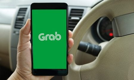 Grab app on smartphone