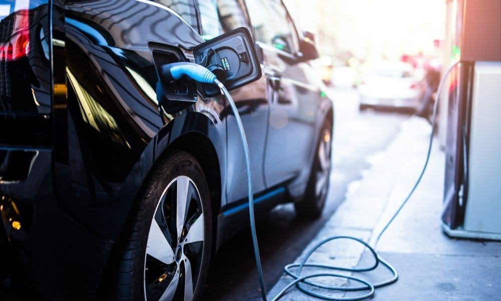 electric car being charged