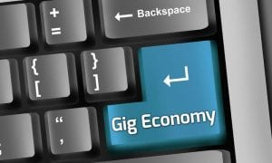 gig economy on keypad