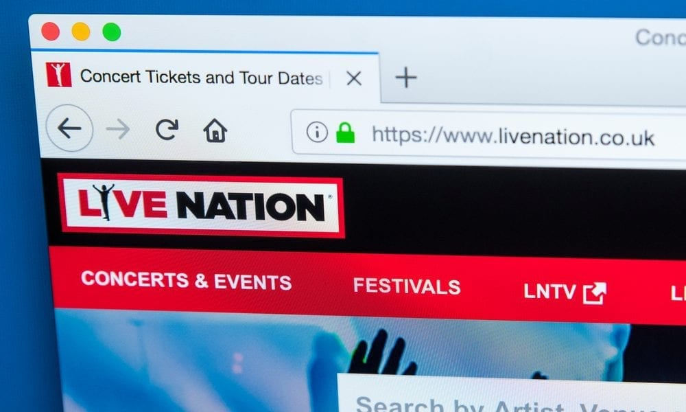 Live Nation ticket sales