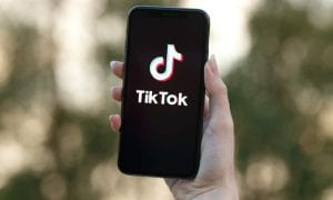 TikTok on smartphone