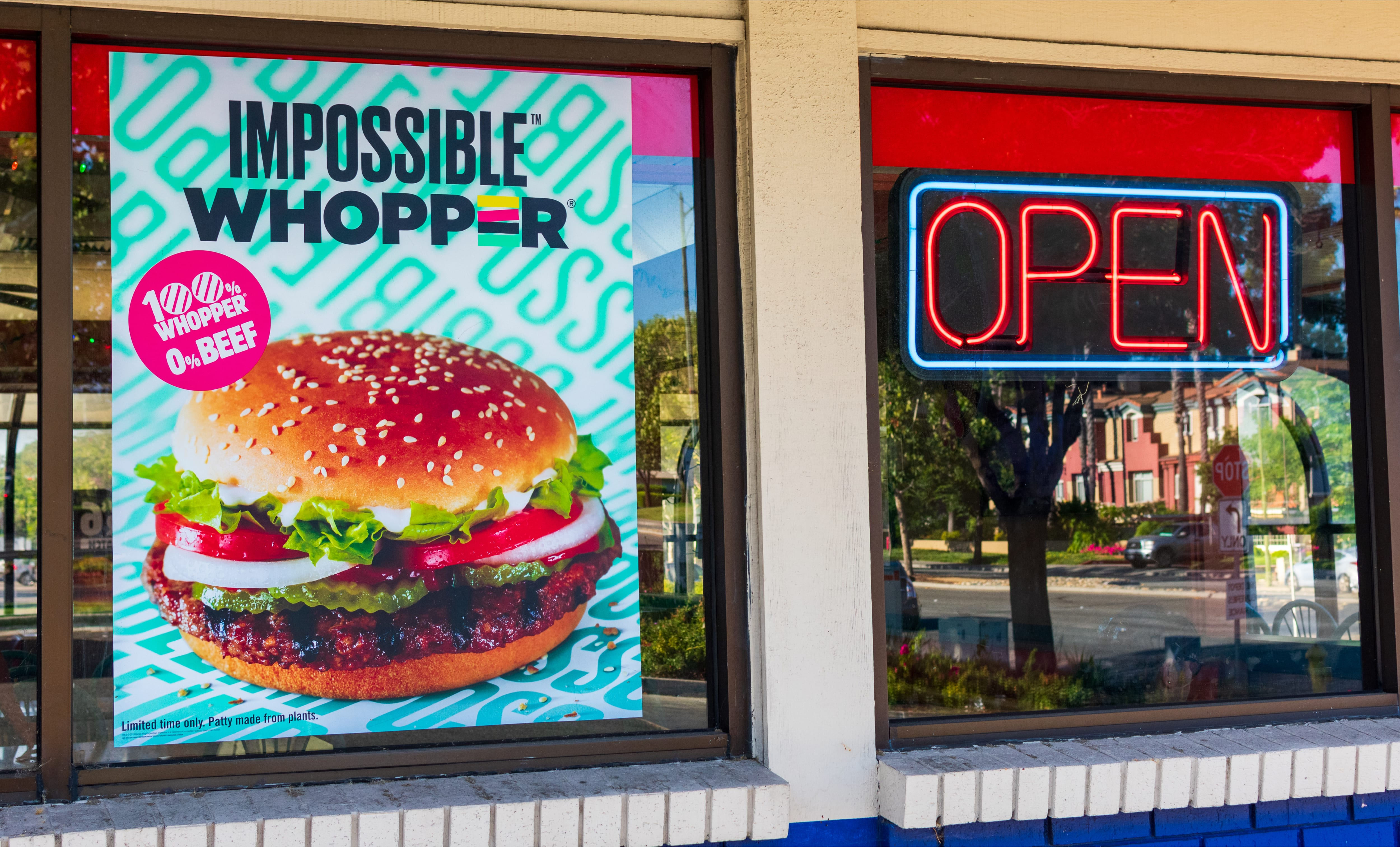 Burger King Impossible Whopper sign