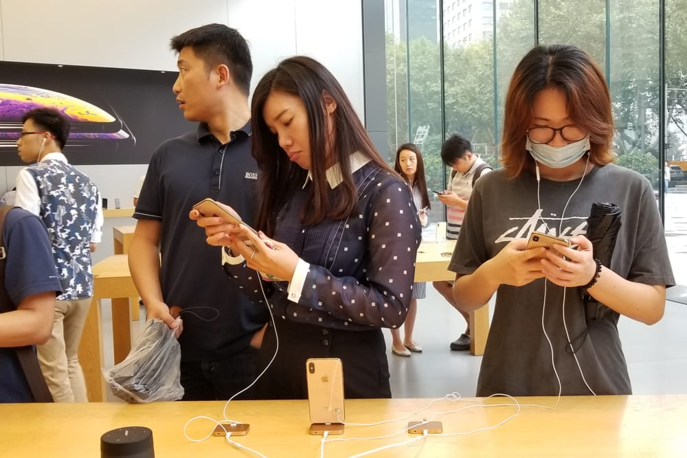 China Sees 18 Pct. Jump In iPhone Sales