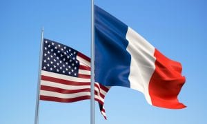 U.S. and France flags