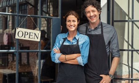 small business couple