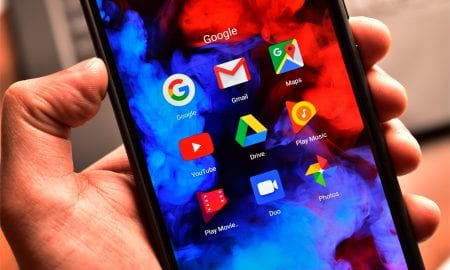 Google apps on smartphone