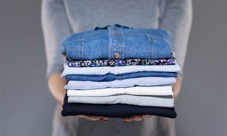 clothing folded