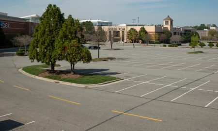 vacant mall parking lot