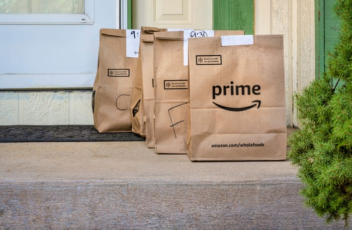 Amazon, delivery, groceries, whole foods, fresh, prime pantry, coronavirus, demand
