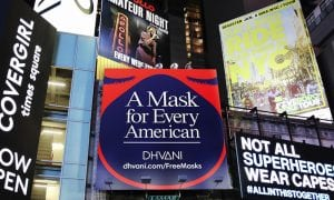 Activ(ist)wear Brand Takes Its Masks To Times Square