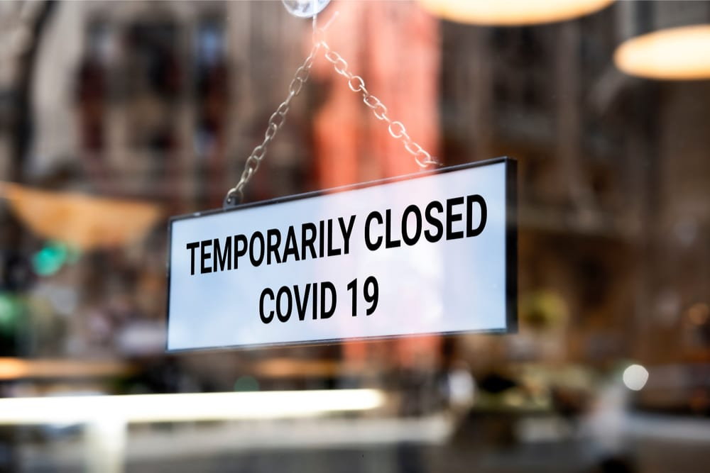 temporarily closed COVID-19 sign