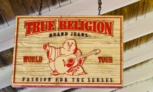 True Religion Brand Jeans sign