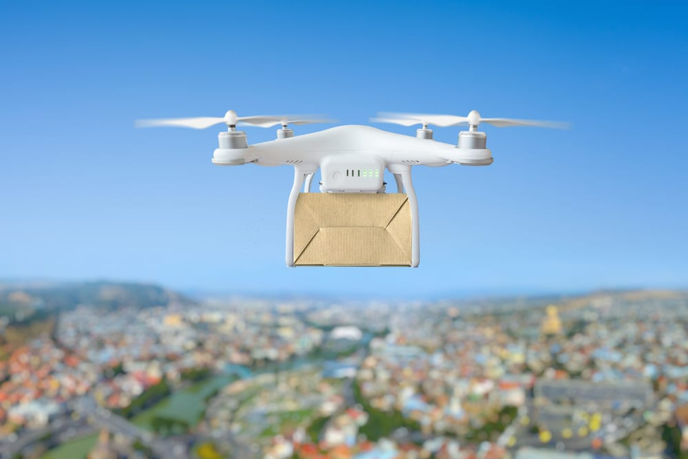 Drones could be used in combination with blockchain