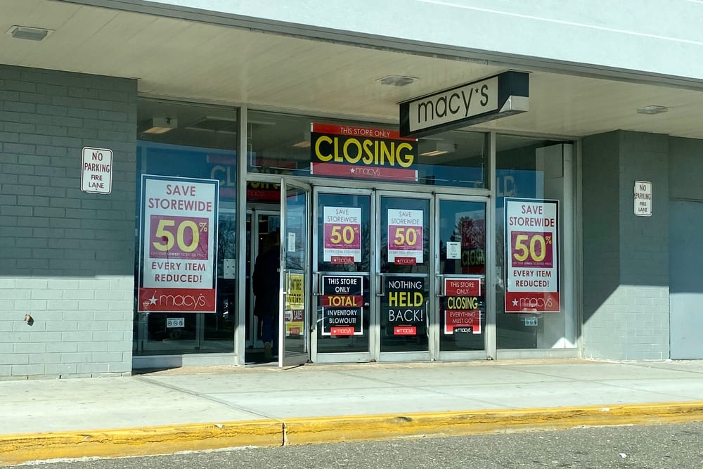Half Of Department Stores Likely To Close By 2021