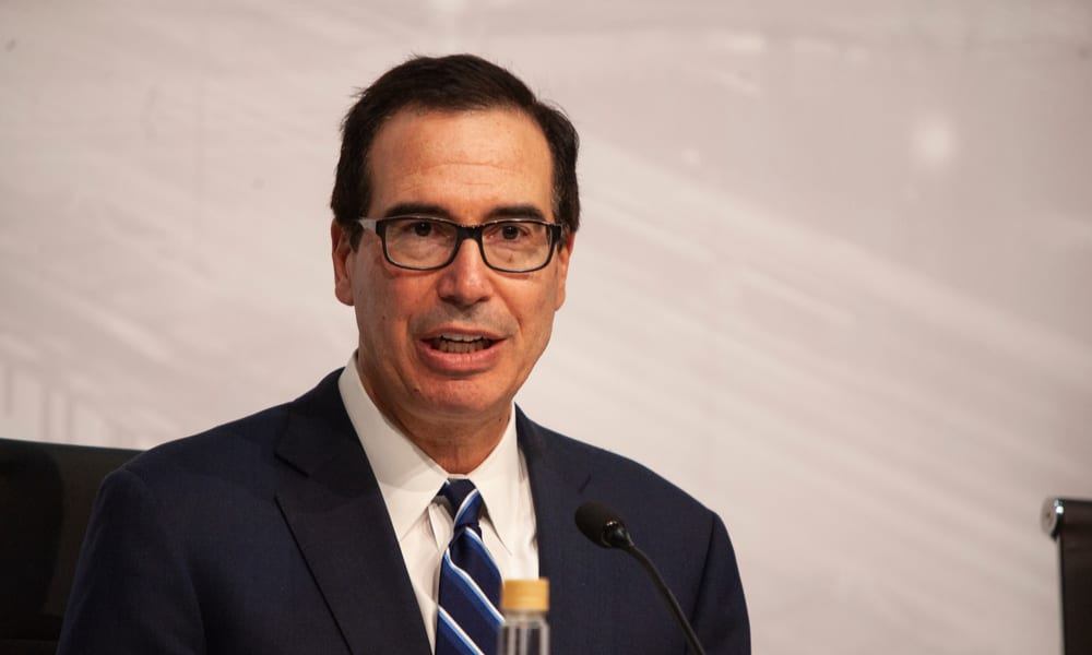 Mnuchin Says Gov't Funds Won't Run Out