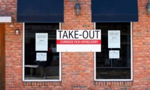 Takeout restaurant sign
