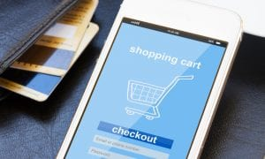 eCommerce checkout on phone